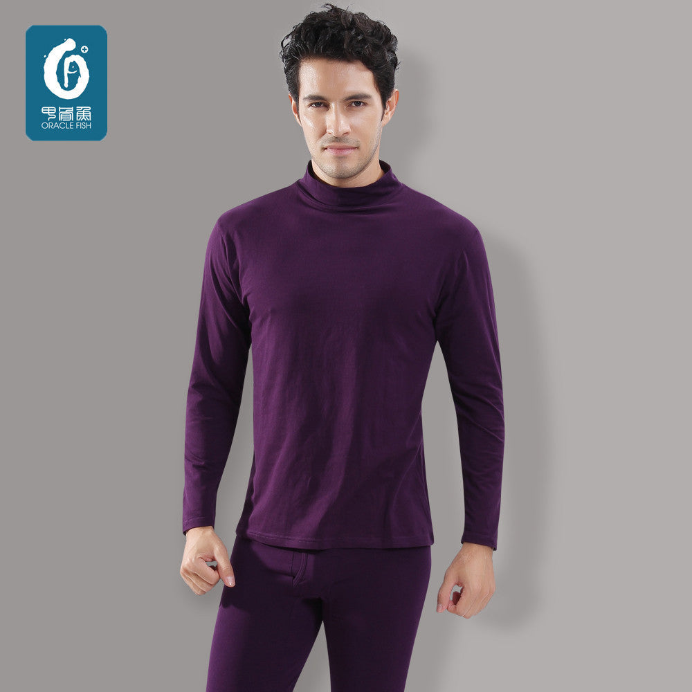 29487bd4 10-minus-autumn-and-winter-thermal-underwear-men-s-suits-long-johns-modal-cotton-high-collar-warm-backing-qiuyiqiuku-suit-autumn-and-winter-thermal-  ...