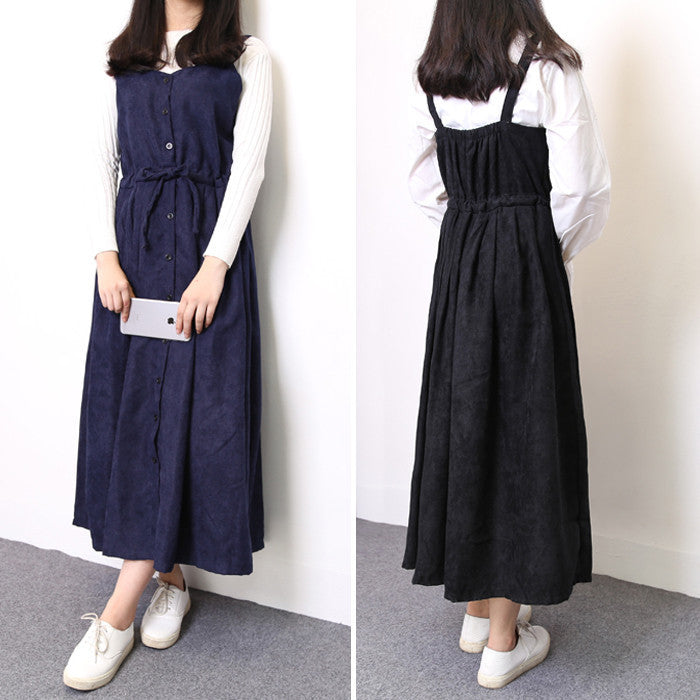 03486eb05 10-minus-autumn-spring-vintage-women-strap-long-dress-korean-preppy-style-allmatch- cute-suspender-dresses-maxi-dress-sleeveless-vestidoes-autumn-spring- ...