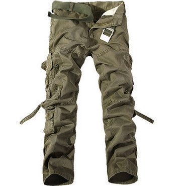 2016 New Casual Men Tactical Cargo Pants Slim multi-pockets Men Pants 6 colors available Fashion Cargo Pants Hot Sale(no belt) - 10MINUS: Online Shopping Destination with High-Quality