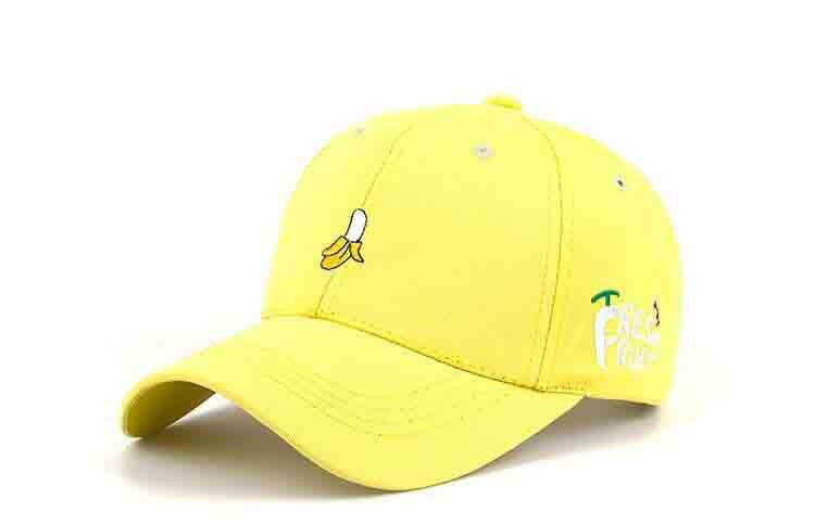 2016 New Arrival Spring Leisure Fresh Fruit Embroidery Hat Strawberry Banana Cherry Orange Peach Baseball Cap For Women - 10MINUS: Online Shopping Destination with High-Quality