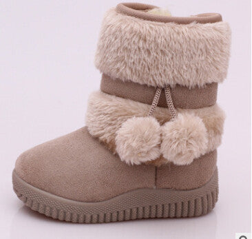 2016 New Girls Winter  Warm Children Snow Boots Personality Lobbing Ball Kids Snow Shoes For Boys Girl Boots EU 21-31 size - 10MINUS: Online Shopping Destination with High-Quality