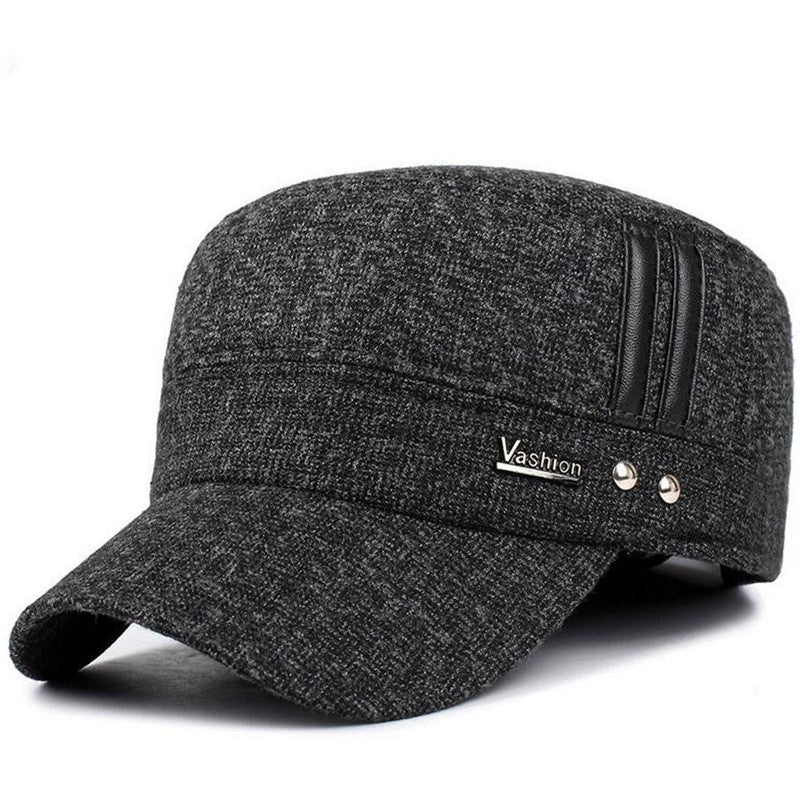2016 Men's Winter Brand Hat Protect the Ear Flaps Warm Cotton Mens Winter Baseball Cap Snapback Sport Earflaps Russia Baseball C - 10MINUS: Online Shopping Destination with High-Quality