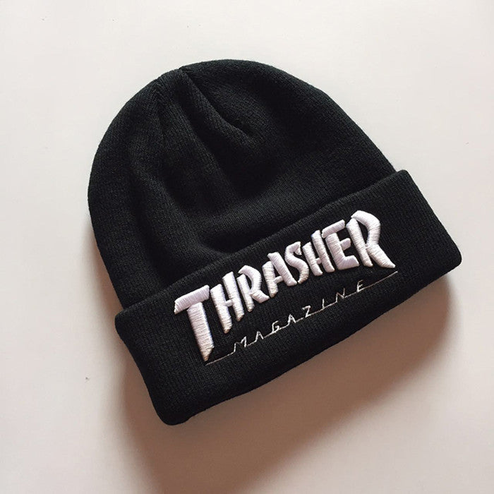 2016 Men's Winter Caps Thrasher Cotton Warm Knitted Men Women Hot Hip Hop Men Womens Casual Hat Female Beanies #CAP6A47 - 10MINUS: Online Shopping Destination with High-Quality