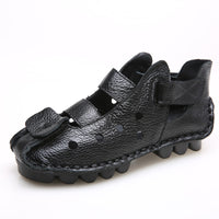 Summer New Soft Bottom Flat Genuine Leather Women Shoes Personality Leisure Women Sandals Retro - 10MINUS: Online Shopping Destination with High-Quality