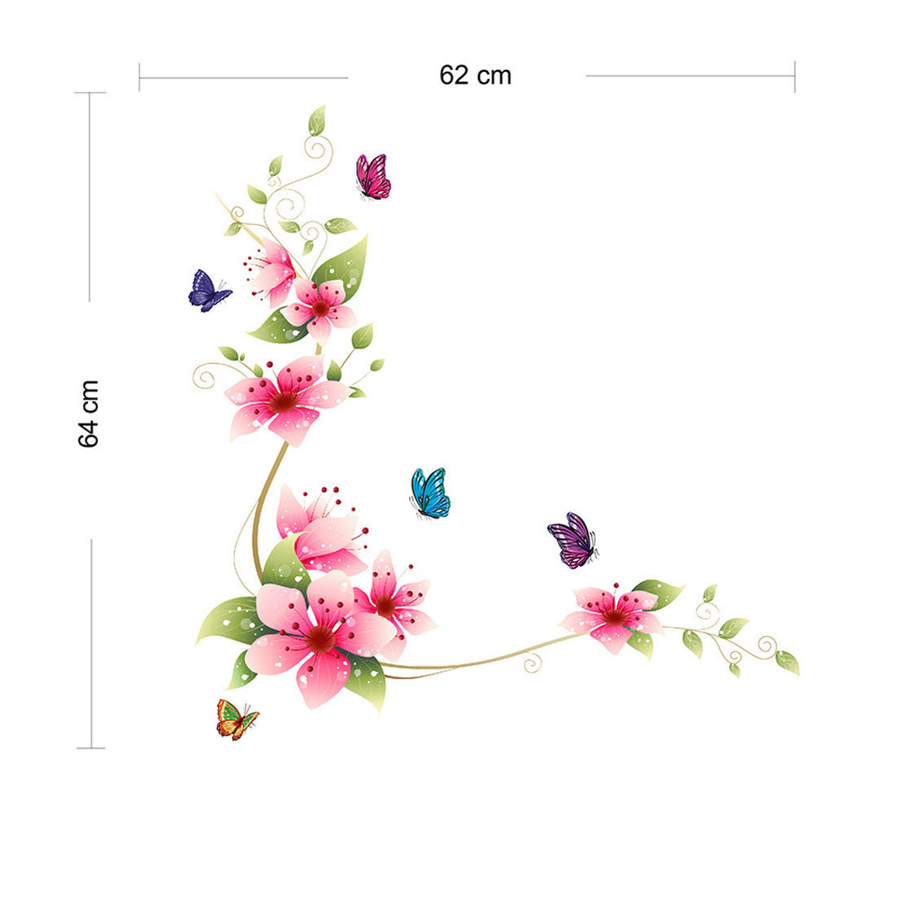 New Style Flower Butterfly Monster Wall Paper Decals Removable adesivo de parede Wall Sticker Home Toilet decoration - Best price in 10minus