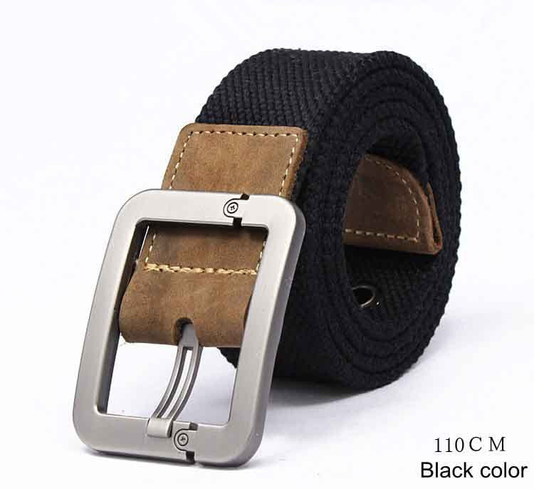 HOT 2017 wholesale Real Solid brand Belt for Men Cinto men's Fashion Pin Buckle Canvas cowboy knitted Strap Casual  Striped belt - 10MINUS: Online Shopping Destination with High-Quality