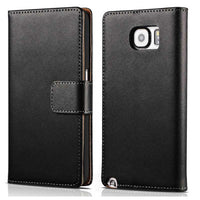 Note 5 Wallet Cover Genuine Leather Case for Samsung Galaxy Note 5 N9200 Coque Flip Stand Phone Bag For Samsung Note 5 Case - Best price in 10minus