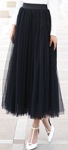 2016 autumn new fashion faldas korean style 8 m big swing maxi skirts womens winter jupe high waist tutu adult long tulle skirt - 10MINUS: Online Shopping Destination with High-Quality