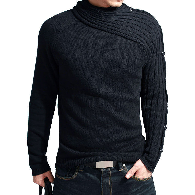 2016 Hot Classic Men's Knitwear/knitted sweater top/Jersey/Jumper Slim 100% cotton/ black/grey/ extra large XXL[Free shipping] - 10MINUS: Online Shopping Destination with High-Quality