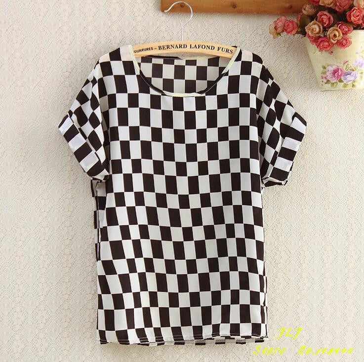 2016 New fashion chiffion Batwing Short Sleeve T-Shirts women Loose Shirt Tees tops plus size S-XXL casual Tees clothes - 10MINUS: Online Shopping Destination with High-Quality