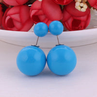 13 Colors New Arrival Classic Cheapest Solid Candy Colors Double Sides Big Pearl Earrings Cute Bead Ball Earrings For Women - 10MINUS: Online Shopping Destination with High-Quality