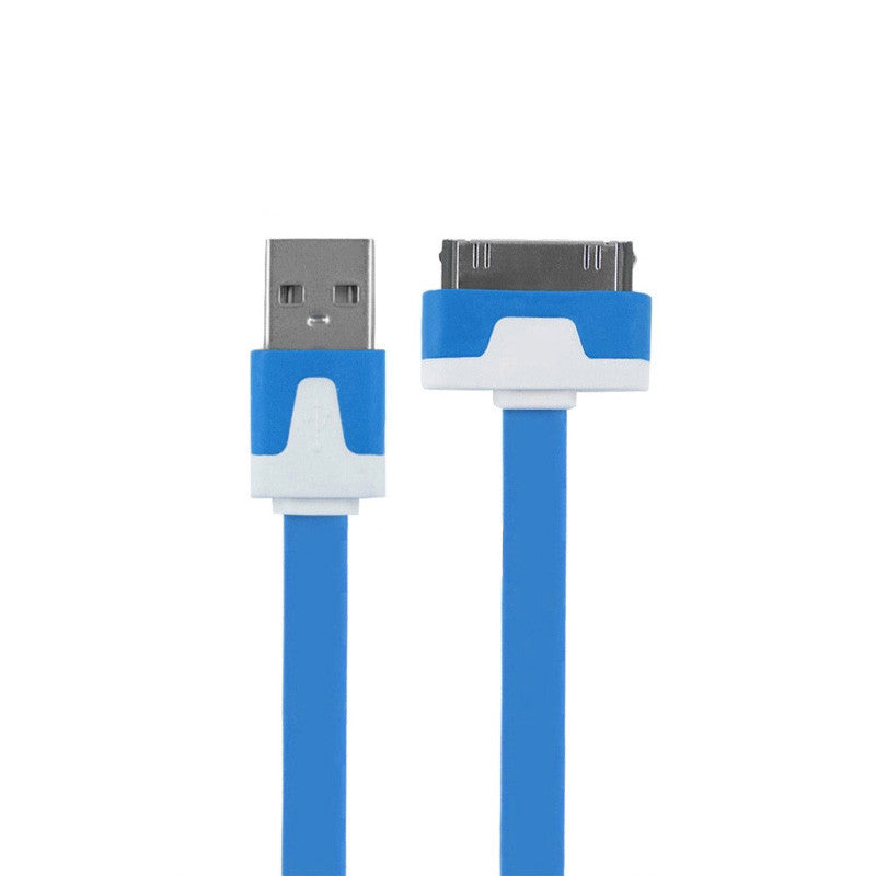 1m 2m 3m Noodles Micro USB Sync Data Charging Charger Cable Cord for Apple iPhone 4 4S iPad 2 3 Drop Shipping - 10MINUS: Online Shopping Destination with High-Quality