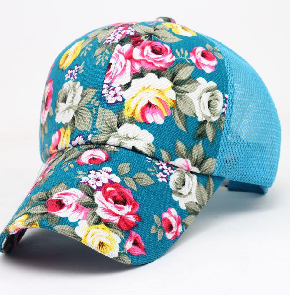 2016 New Female Floral Hat Baseball Cap Mesh Cap Spring And Summer Sports And Leisure Sun Visor Sun Hat Snapback Cap - 10MINUS: Online Shopping Destination with High-Quality