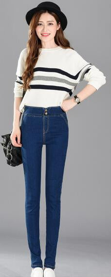 2016 New Fashion Women Pants Plus Size Stretch Skinny High Waist Jeans Pants Woman Trousers Pencil Casual Slim Denim Pants - 10MINUS: Online Shopping Destination with High-Quality