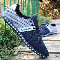 New Spring And Autumn Men Shoes Casual Shoes Fashion Light Men Flats Network Breathable Shoes Men Plus Size 39-46 Summer - Best price in 10minus