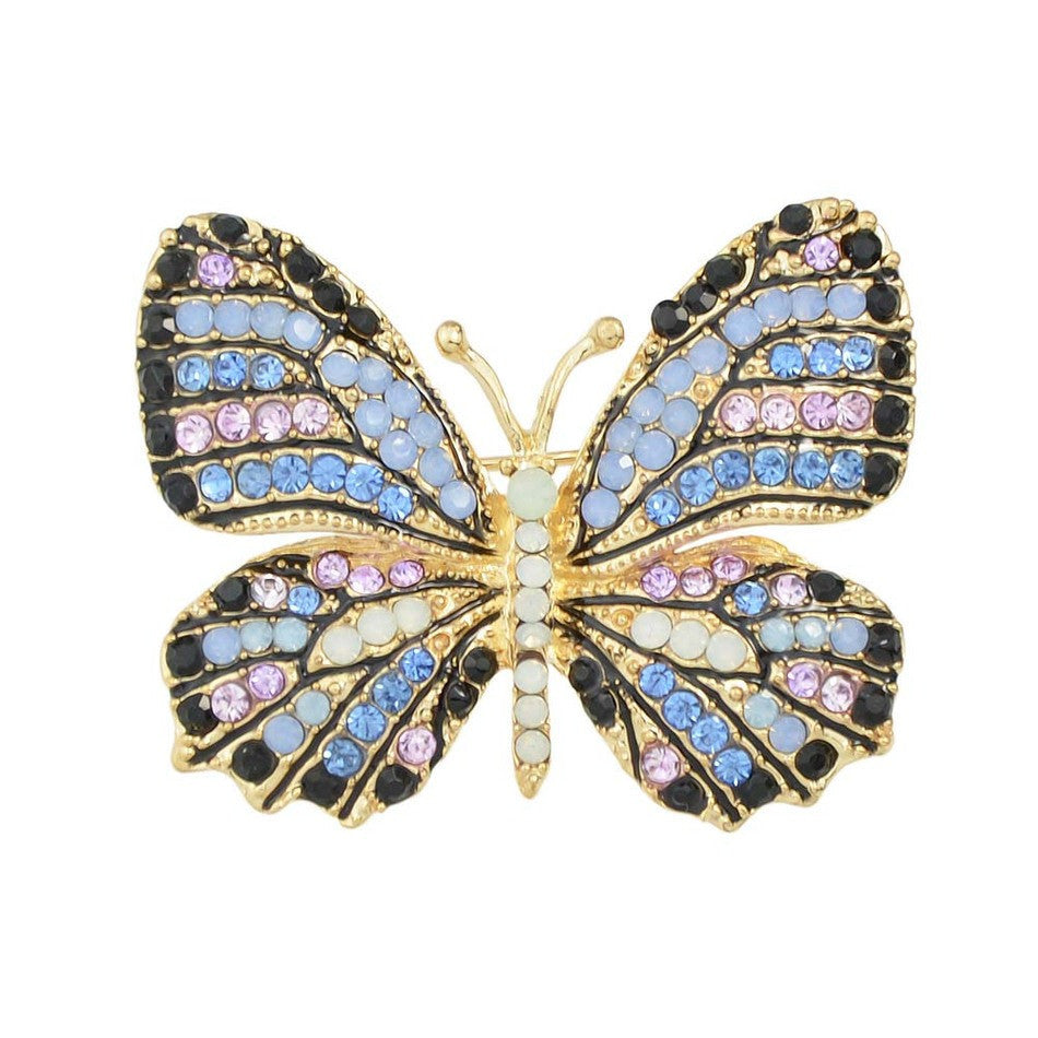 10 MINUS blue Jewelry Luxury Brooch Gold Plated with Colorful Rhinestone Lovely Butterfly Brooches for Lady Accessories Jewelry Luxury Brooch Gold Plated with Colorful Rhinestone Lovely Butterfly Brooches for Lady Accessories Jewelry Luxury Brooch Gold Plated with Colorful Rhinestone Lovely Butterfly Brooches for Lady Accessories blue