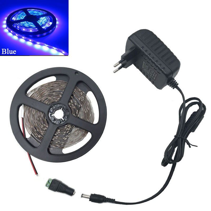 RGB led strip 3528 2835 flexible strip light non waterproof 5M 300led+24key IR remote controller+DC12V power adapter EU/US/AU/UK - 10MINUS: Online Shopping Destination with High-Quality