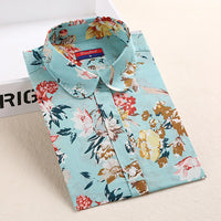 Women Cotton Shirts Fashion Vintage Blouse 5XL Plus Size Shirt Print Blusas Dioufond Floral Women Blouses 2017 Summer Tops - Best price in 10minus