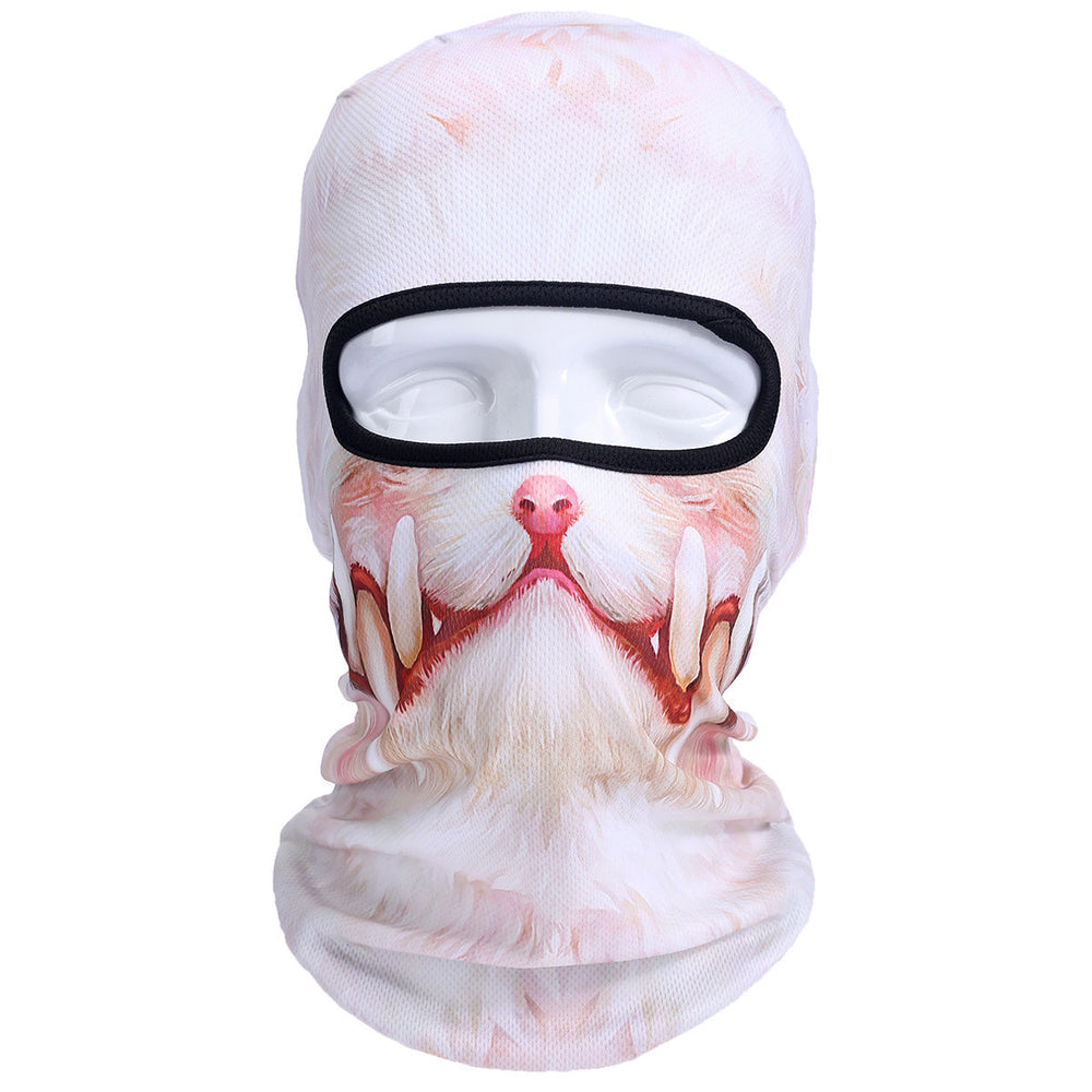 New 3D Animal Dog Cat Balaclava Cap Hunting Outdoor Halloween Sport Hats Motorcycle Skiing Cycling UV Protection Full Face Mask - 10MINUS: Online Shopping Destination with High-Quality