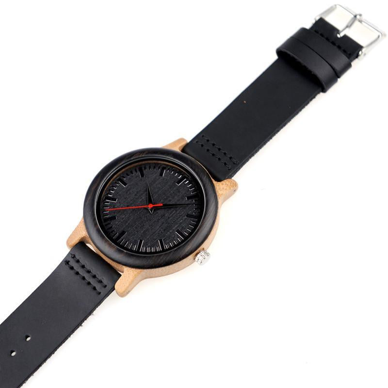 BOBO BIRD WM13 Newest Brand Design Wenge Wooden Watch Soft Leather Band Cool Bamboo Quartz Watches Carton Box Accept Customize - Best price in 10minus