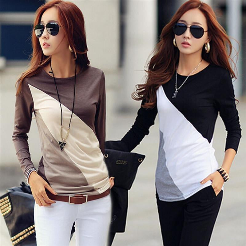 Brand Autumn Fashion Cotton Blouse Women Shirts Blouses Casual O Neck Long Sleeve Cotton Tops 2 Styles - 10MINUS: Online Shopping Destination with High-Quality