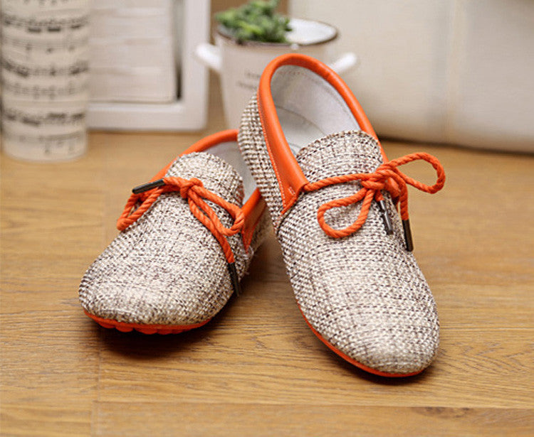 Men Shoes Spring Summer Breathable Fashion Weaving Men Casual Flat Home Use Shoes Lace-Up Loafers Comfortable Shoes Gd1SB32 - Best price in 10minus