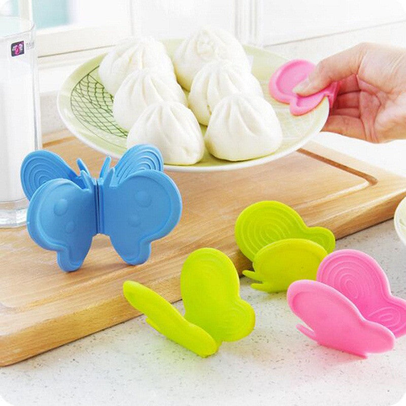 Butterfly creative kitchen silicone insulation against hot plate clip With magnet taken oven thickened protect hands take bowl - 10MINUS: Online Shopping Destination with High-Quality