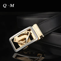 2016 New Designer Belts Men High Quality Men's Belts Luxury Superman Automatic Buckle Leather Belts For Men Cinturones Hombre - 10MINUS: Online Shopping Destination with High-Quality