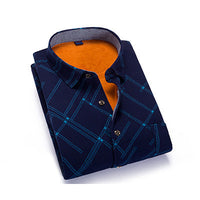 Luopei Autumn And Winter Men's Shirt Addvelvet Comfortable And Warm Casual Turn Down Collar Plus Size - 10MINUS: Online Shopping Destination with High-Quality