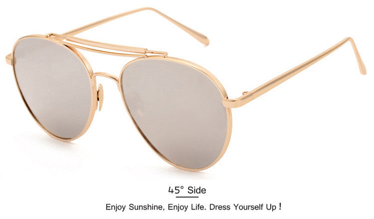 2016 Fashion Newest Popular Sunglasses Women Brand Designer Pilot Sun Glasses Men Gafas Oculos De Sol Feminino Masculino - 10MINUS: Online Shopping Destination with High-Quality