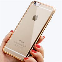 "Case For Apple iPhone 6 6S 4.7"" 6Plus 6S Plus 5.5"" Royal Luxury style Plating Gilded TPU Phone silicone soft Back Case Cover - Best price in 10minus"