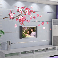 Cherry Blossom Wall Poster Waterproof Background Sticker for Bedroom Cafe wall stickers home decor pegatinas de pared 50 x 120cm - Best price in 10minus