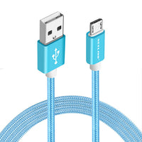 VOXLINK 1m/2m/3m Nylon Braided Micro USB Cable Charging Sync Data USB Cable For iphone 7 6 6s Plus 5s ipad mini Samsung HTC LG - Best price in 10minus
