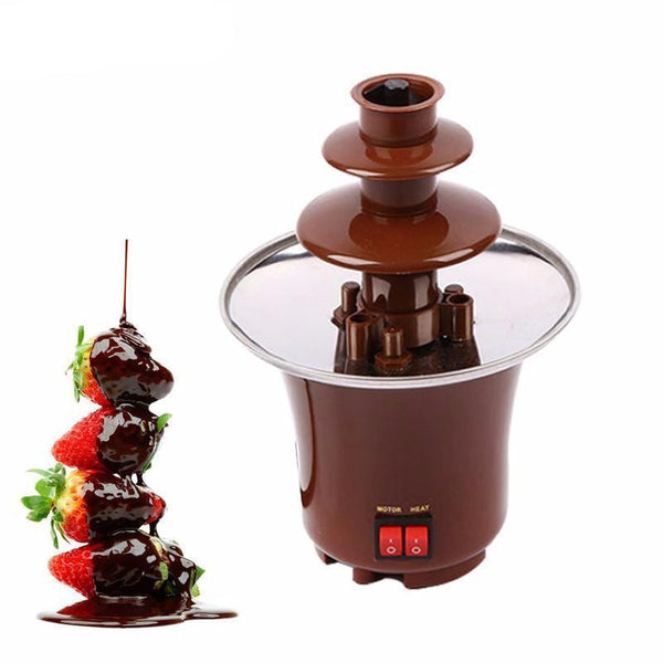 TintonLife New Mini Chocolate Fountain Creative Design Chocolate Melt With Heating Fondue Machine - Best price in 10minus