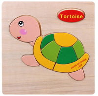 Wooden 3D Puzzle Jigsaw Wooden Toys For Children Cartoon Animal Puzzle Intelligence Kids Educational Toy Toys - 10MINUS: Online Shopping Destination with High-Quality