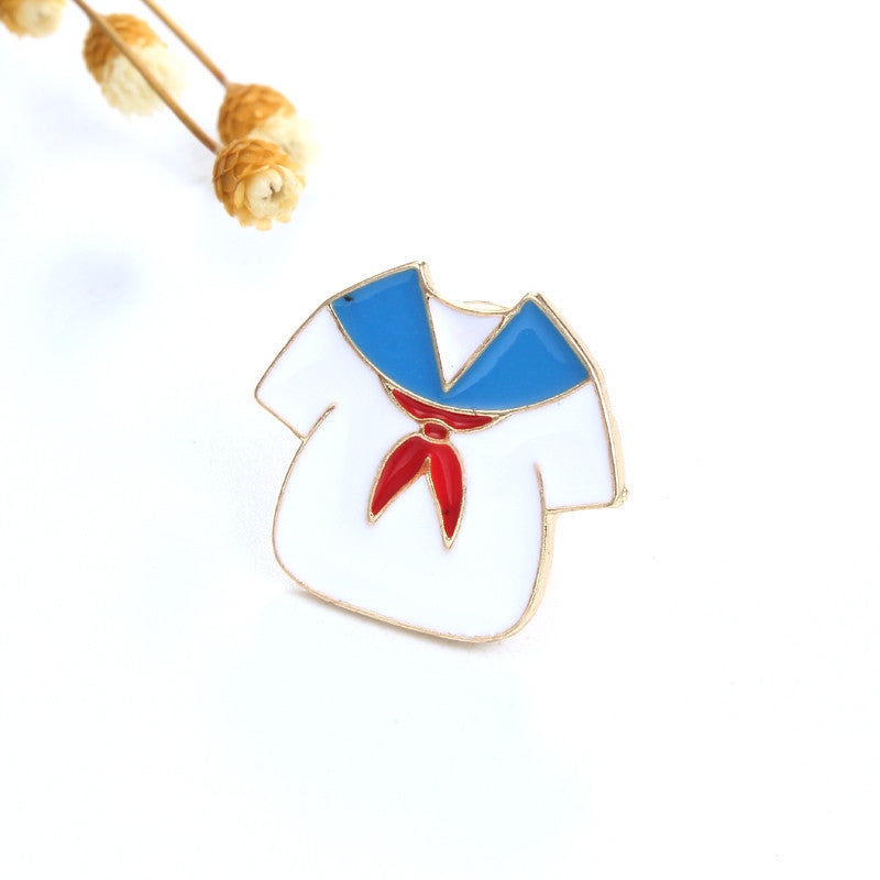 1PC Fashion Enamel Pins And Brooch Cloud Heart Scissors Badge Lapel Brooches For Women Collar Jewelry Gift Bijouterie P1306-T2 - 10MINUS: Online Shopping Destination with High-Quality