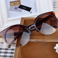 Hot Selling Fashion Vintage Sunglasses Retro Cat Eye Semi-Rim Round Sunglasses - 10MINUS: Online Shopping Destination with High-Quality