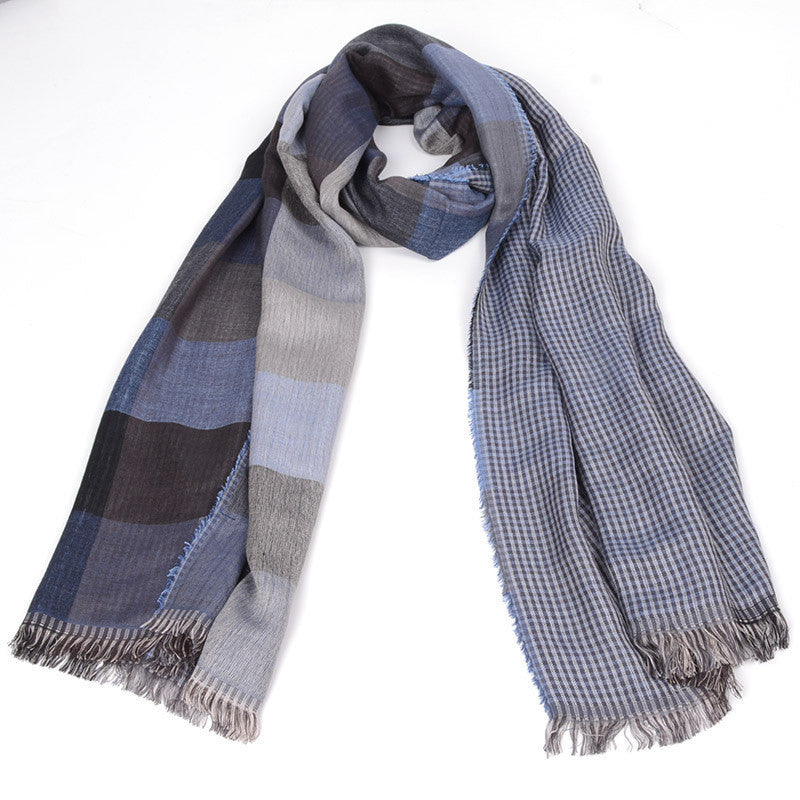 free ship 2016 tartan Scarves men winter new brand Fashion Plaid Scarf for Men Design cozy warm long scarf cotton brown Tassel - Best price in 10minus