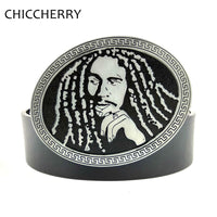 Cool Mens Black Leather Belt with Jamaica Reggae Hip Hop Rap Music Belt Buckle Metal Oval For Men Casual Cinto Jeans Masculino - 10MINUS: Online Shopping Destination with High-Quality