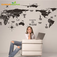 Creative personality World Map Mural Wall Decorations Living Room Roomsticker Bedroom Wall diy art Home Decoration Wall Sticker - Best price in 10minus