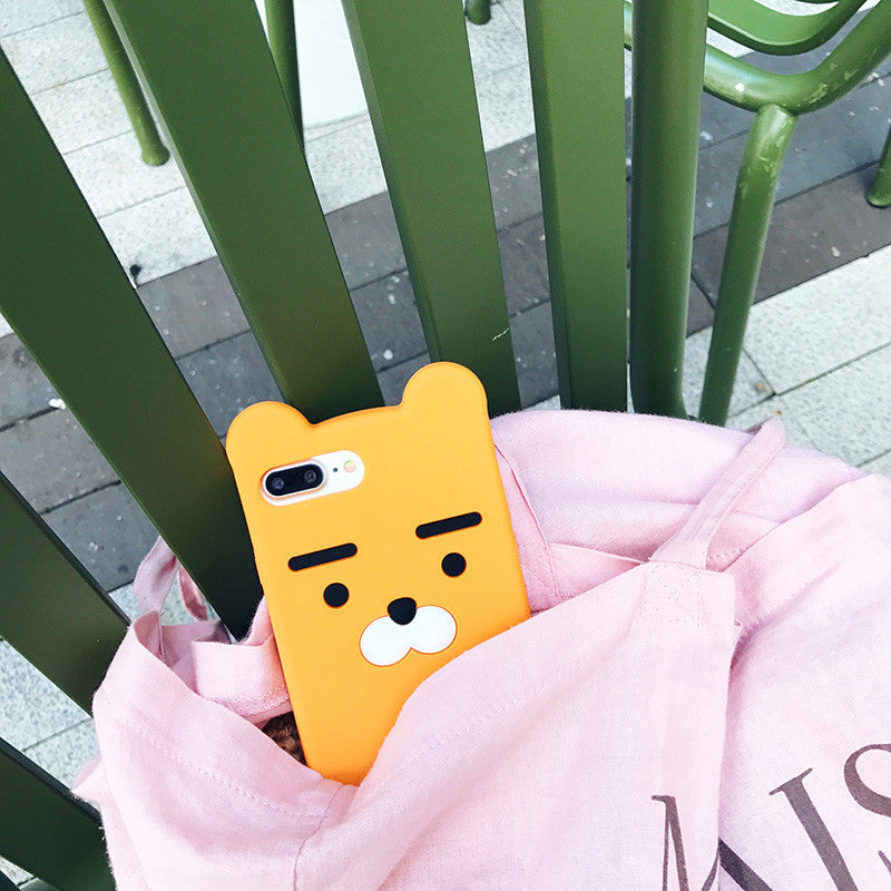 Cute Cartoon Silicon Bear Case for iPhone7 7plus 6 6s 6plus 6splus Silicone Gel Fundas Korea Style for Girl Gift - Best price in 10minus