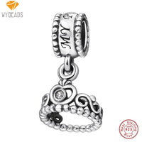 WYBEADS 925 Sterling Silver Charm Daisy Pendant CZ Charms European Bead Fit Bracelets & Bangles DIY Accessories Jewelry Original - 10MINUS: Online Shopping Destination with High-Quality