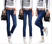 2016 Autumn Winter New Jeans Women Plus Size Cotton Ripped Cuffs Skinny Stretch Long Slim Denim Pencil Pants Hight Quality - 10MINUS: Online Shopping Destination with High-Quality