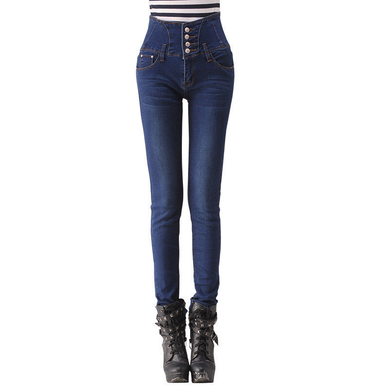 2016 Fashion Vintage Jeans Woman high waist Blue Skinny Jeans Plus Size Women Pants Jeans Femme Ripped Jeans For Women - 10MINUS: Online Shopping Destination with High-Quality