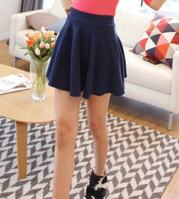 2016 New Fashion Fall Winter Skirt Chiffon  Skirt High Waist mini skirt solid ball gown pleated empire elegant beautiful - 10MINUS: Online Shopping Destination with High-Quality