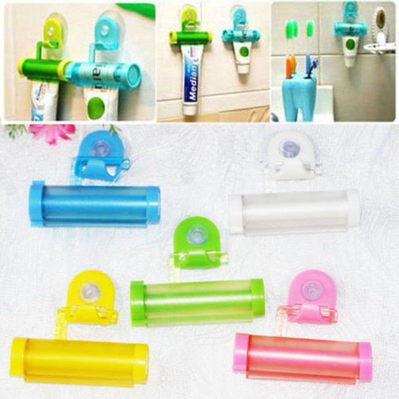 DAY DAY FUN 2016 1 PCS Creative Rolling Squeezer Toothpaste Dispenser Tube Partner Sucker Hanging Holde distributeur dentifrice - 10MINUS: Online Shopping Destination with High-Quality
