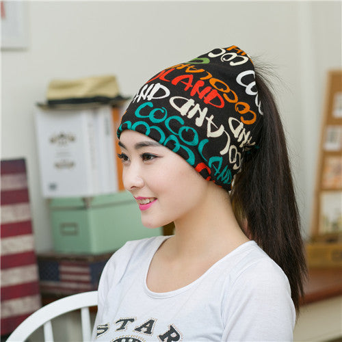 2016 Korean Letter Version Of The New Men And Women Piles Cap Cover Headwear Warm Beanies Winter Scarf Knitted Hat Wholesale - 10MINUS: Online Shopping Destination with High-Quality