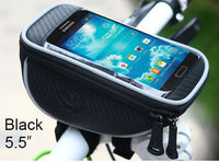 "5.5"" inch Bike Mobile Cell Phone Waterproof Bag Stand Holder Pannier for Samsung s7/s6/Meizu m3/m5 note/Xiaomi redmi 4A/note 4/3 - Best price in 10minus"