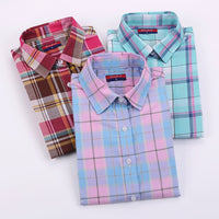 Dioufond Cotton Plaid Shirts Women Blouses Long Sleeve Ladies Office Tops Flannel Shirt  Plus Size Clothing For Women Blusas - Best price in 10minus