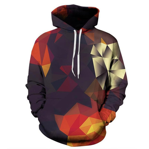 Headbook Men/Women Hoodies With Hat Hoody Print Color Blocks Autumn Winter Thin 3d Sweatshirts Hooded Hood Tops - Best price in 10minus